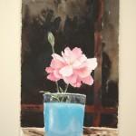 Rosa nel vaso